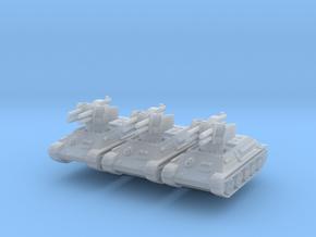 T-34 Flakpanzer (x3) 1/285 in Smooth Fine Detail Plastic
