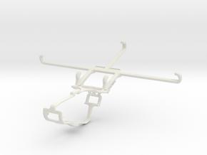 Controller mount for Xbox One & T-Mobile REVVL V+  in White Natural Versatile Plastic