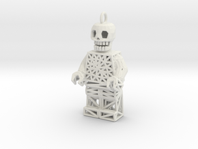 Los Muertos Lego Man Key Chain in White Strong & Flexible