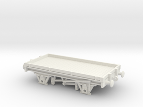 HO/OO scale 1 plank wagon Chain in White Natural Versatile Plastic