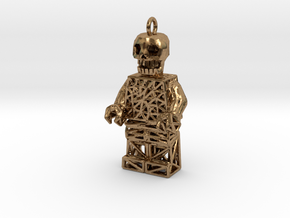 Los Muertos Lego Man Key Chain in Natural Brass