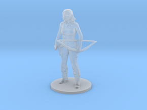 Jane Rambo miniature model wargame rpg dnd soldier in Smooth Fine Detail Plastic