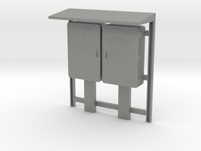 1:24 Industrial Relay Cabinet in Gray PA12