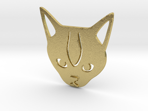 Cat paperclip in Natural Brass