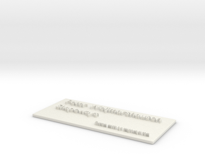 Office Tag Peter in White Natural Versatile Plastic