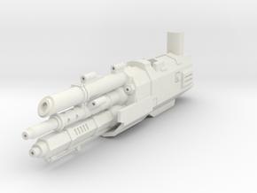 Transformers SS72 Starscream Laser Rifle in White Natural Versatile Plastic