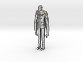 Slenderman 1/60 miniature for games and rpg horror in Natural Silver