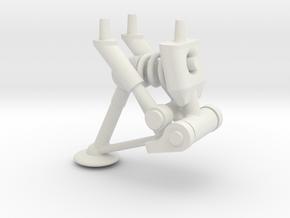 Spring Gear rev 4   @ .963 high in White Natural Versatile Plastic