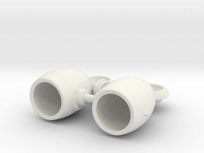 "E&J Headlights 1"" diameter in White Natural Versatile Plastic"