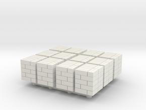 48x40in Pallet Box Load (x12) 1/220 in White Natural Versatile Plastic