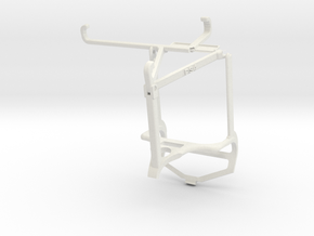 Controller mount for PS4 & Xiaomi Poco F3 GT - Top in White Natural Versatile Plastic