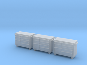 1:64 Tool Cart 3pc in Smooth Fine Detail Plastic