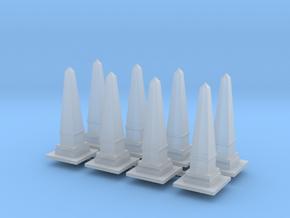 Obelisk Monument (x8) 1/350 in Smooth Fine Detail Plastic