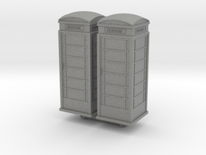 UK Phone Booth (x2) 1/87 in Gray PA12