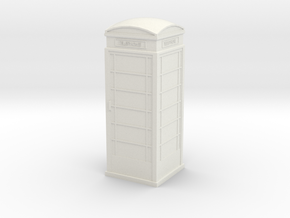 UK Phone Booth 1/76 in White Natural Versatile Plastic