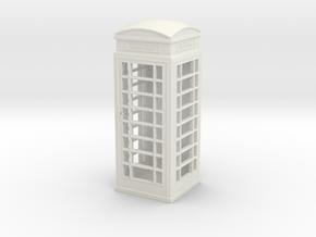 UK Phone Booth 1/56 in White Natural Versatile Plastic