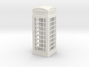 UK Phone Booth 1/43 in White Natural Versatile Plastic