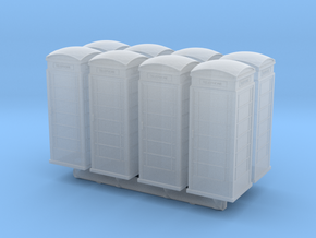 UK Phone Booth (x8) 1/220 in Smooth Fine Detail Plastic