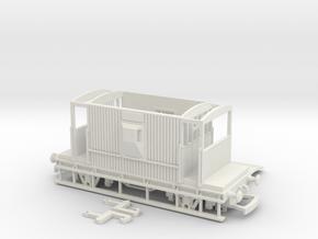 HO/OO BR 20-ton Brake van Realistic v2 Bachmann in White Natural Versatile Plastic