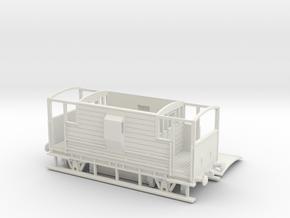HO/OO LMS 20-ton Brake Van v2 Chain in White Natural Versatile Plastic