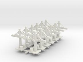 1/285 Single Naval Yard Crane (x12) in White Natural Versatile Plastic