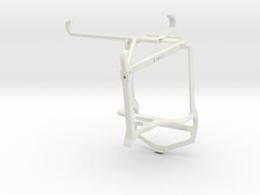 Controller mount for PS4 & Motorola Edge 20 Fusion in White Natural Versatile Plastic