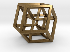 Hypercube B in Raw Bronze