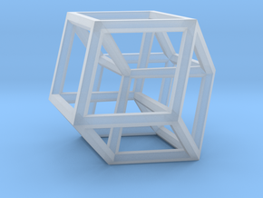 Hypercube B in Smooth Fine Detail Plastic