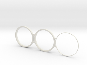 Ronda 515.24h to NH movement adapter pair in White Natural Versatile Plastic