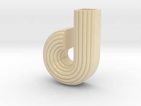 "Letter planter ""d"" in Glossy Full Color Sandstone"