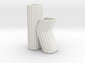"""Letter planter """"k"""" in White Natural Versatile Plastic"""
