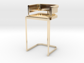 Miniature Luxury Vintage Bar Stool in 14k Gold Plated Brass