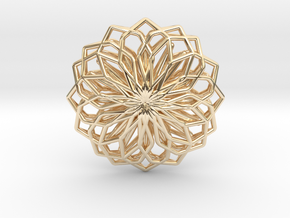 A-LINE Lotus, Pendant in 14K Yellow Gold