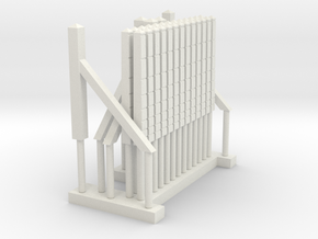Southern Region Lineside Concrete Fencing x1 in White Natural Versatile Plastic