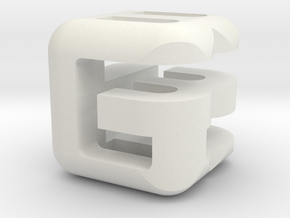 G E B lower (3x3x3) in White Natural Versatile Plastic