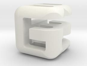 G E B lower (3x3x3) in White Natural Versatile Plastic