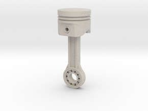 Piston Keychain 4cm in Natural Sandstone
