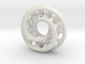 Double Moebius Small 4cm 0.045 in White Natural Versatile Plastic