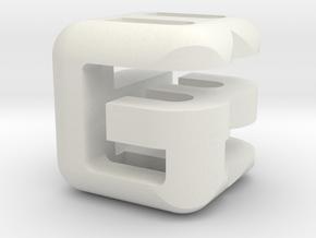 G E B lower (2x2x2) in White Natural Versatile Plastic