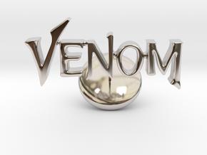 Venom Cufflinks in Rhodium Plated Brass