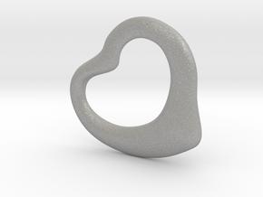 Open Heart Pandent, mini in Aluminum