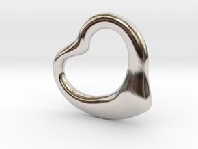 Open Heart Pandent, mini in Platinum
