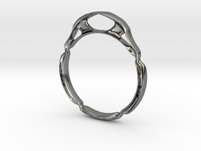 Generative Ring 1 in Polished Silver