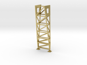 VR Pin Arch 4 Track Part #1 (Brass) 1:87 Scale in Natural Brass
