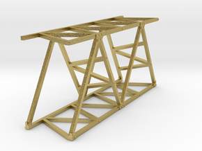 VR Pin Arch 4 Track Part #4 (Brass) 1:87 Scale in Natural Brass