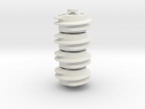 16Z wormgear, 4 piece set in White Natural Versatile Plastic