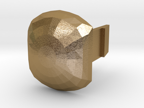 bottom_dome_plug in Polished Gold Steel