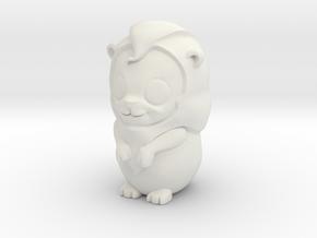 Leo_Zodiac in White Natural Versatile Plastic
