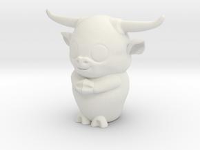 ox-zodiac in White Natural Versatile Plastic