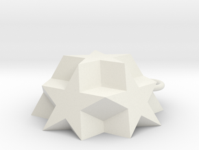 Dodecadodecahedron Charm in White Strong & Flexible